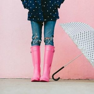 Joules Pink Rainboots